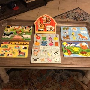 Melissa & Doug toddler puzzle lot of 7